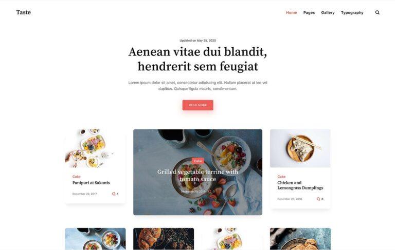 Teste Free Food HTML Staic Theme