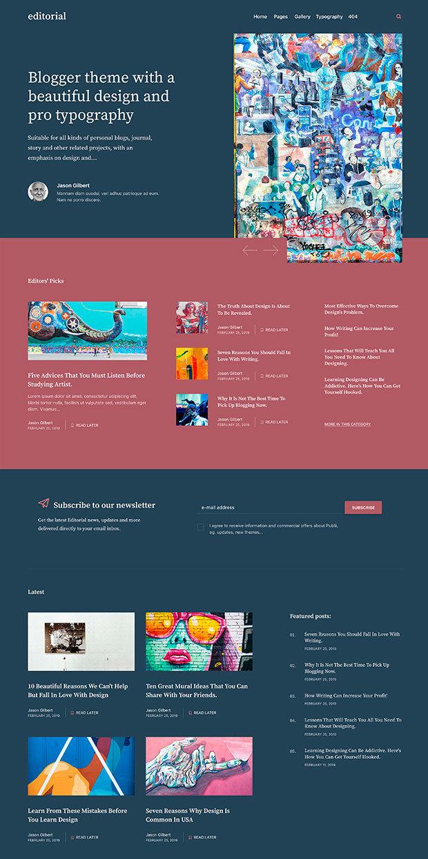 Biscay Website Color Scheme