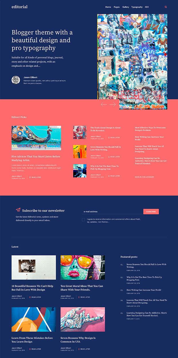 Blue Website Color Scheme