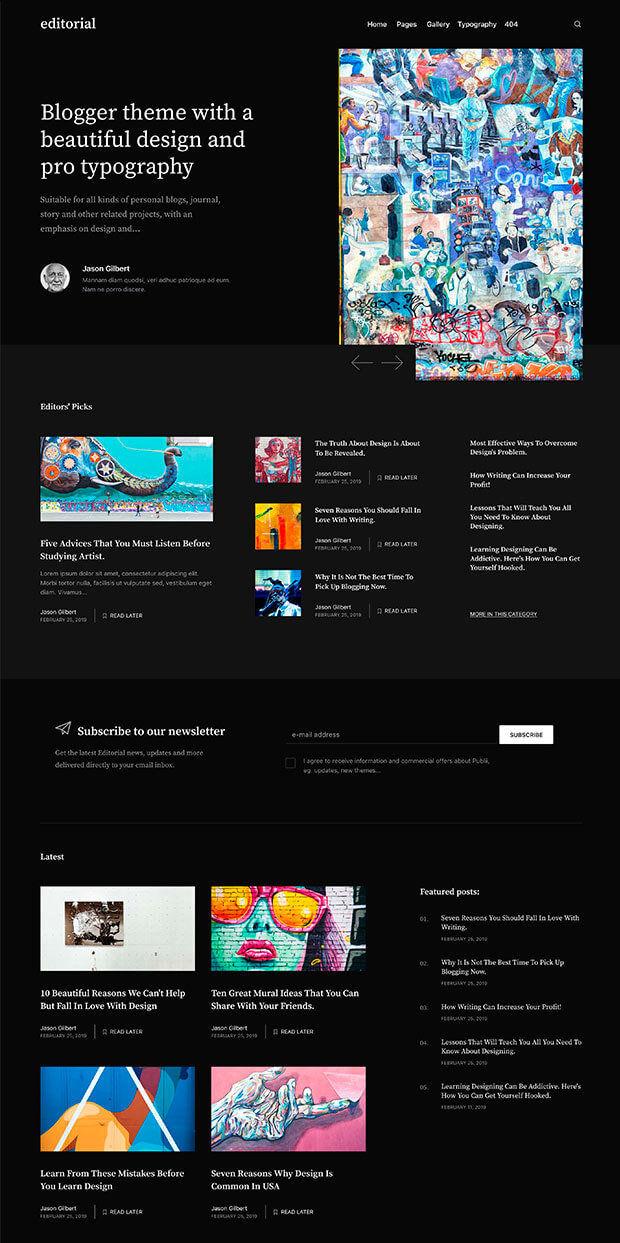 Dark Website Color Scheme