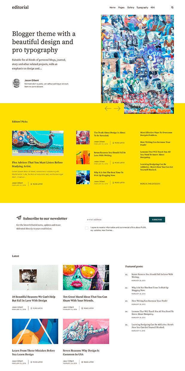 yellow Website Color Scheme