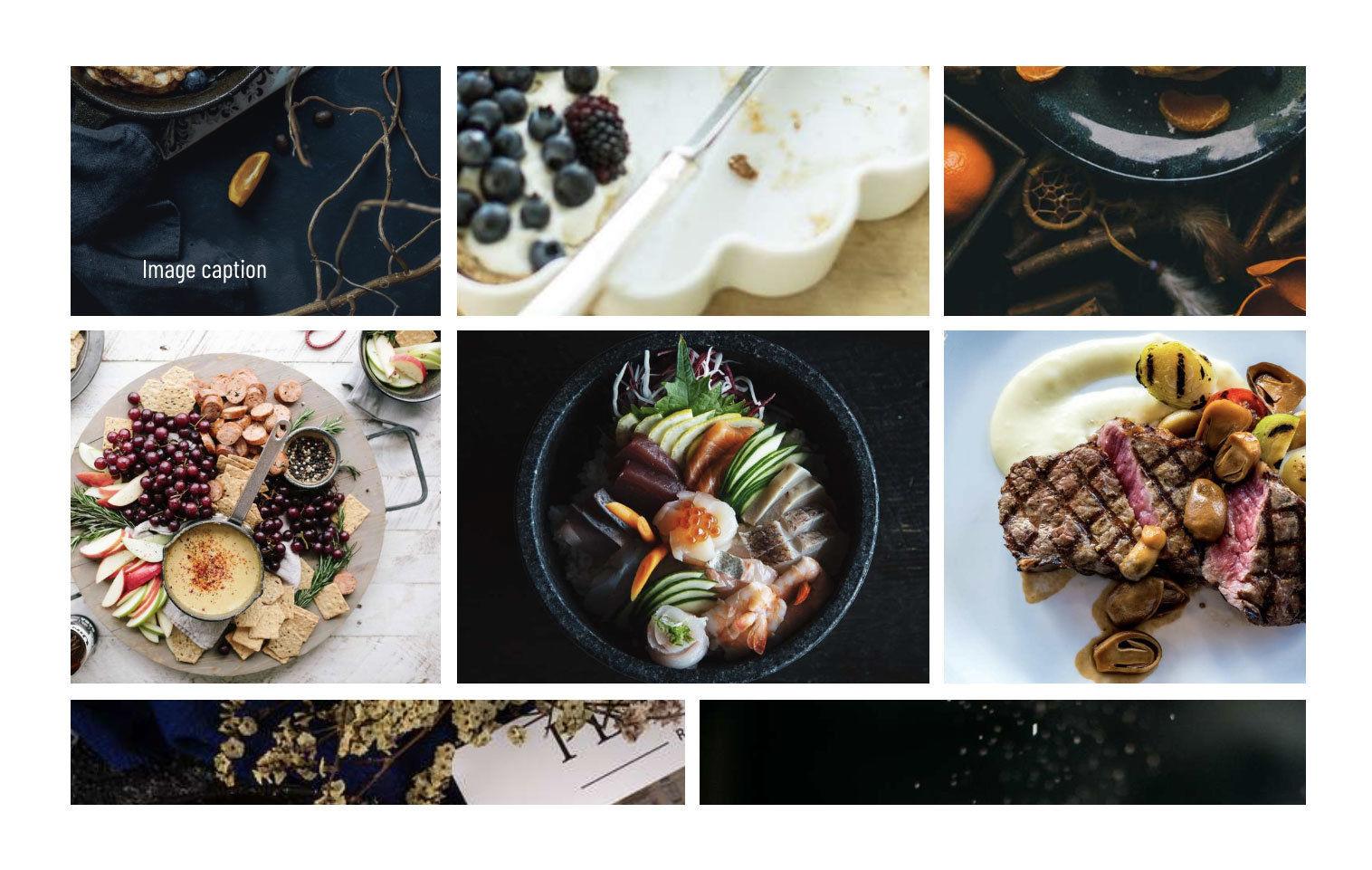 Cortado Restaurant HTML Theme Image Gallery