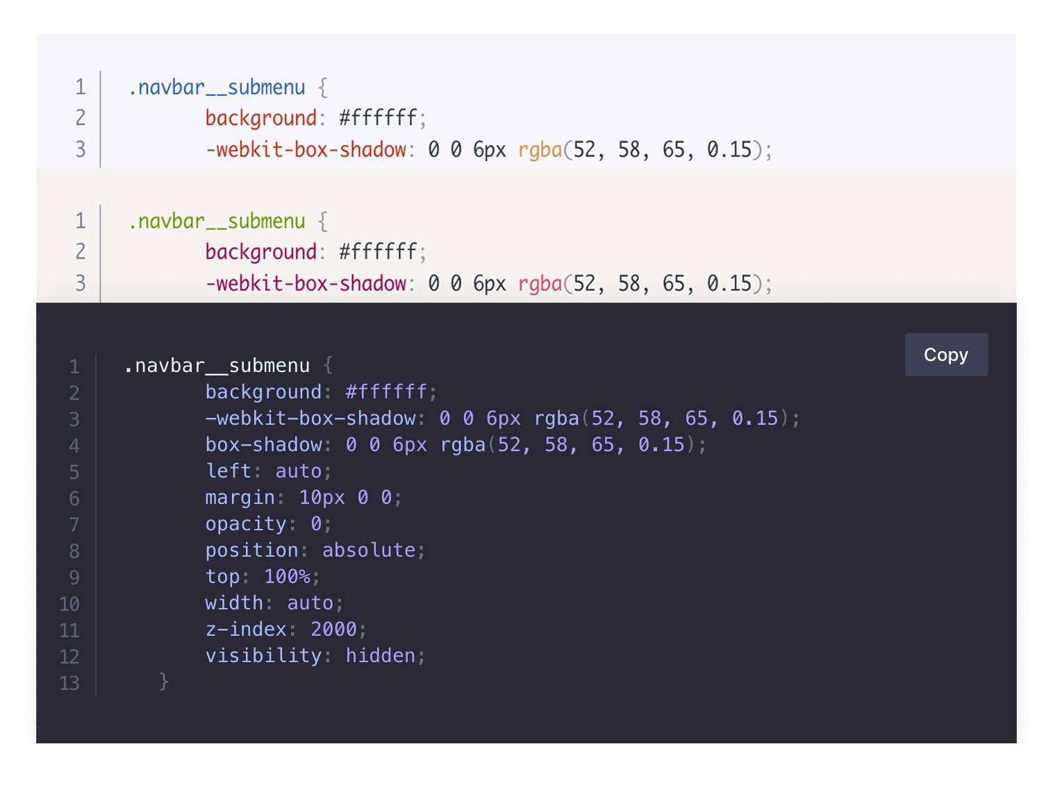 Code highlighting with Prism.js