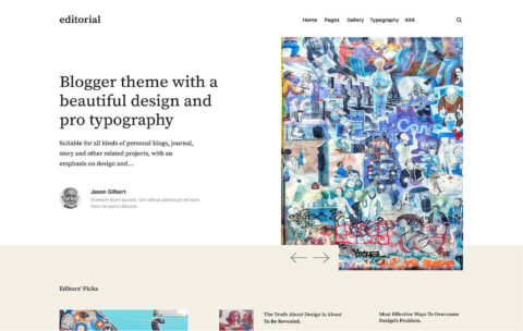 Editorial Personal Blog Theme