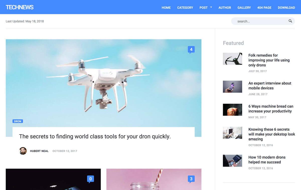 Technews theme