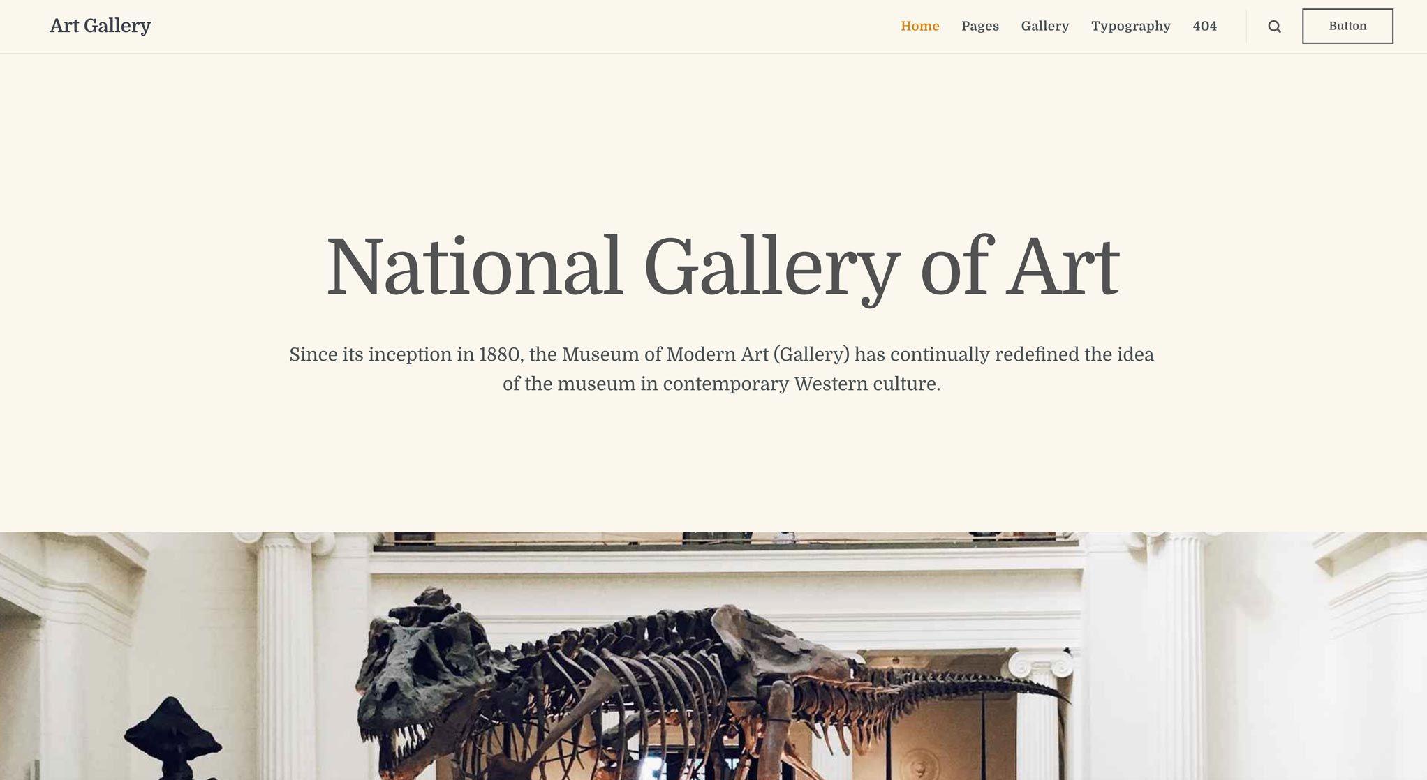 Art Gallery theme botom news