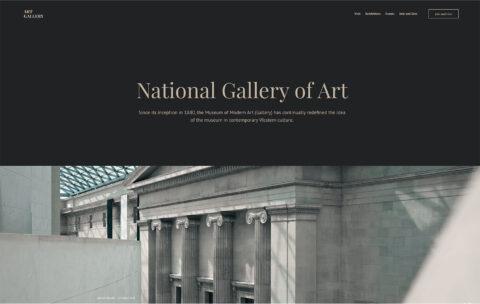 Art Gallery Statci Theme