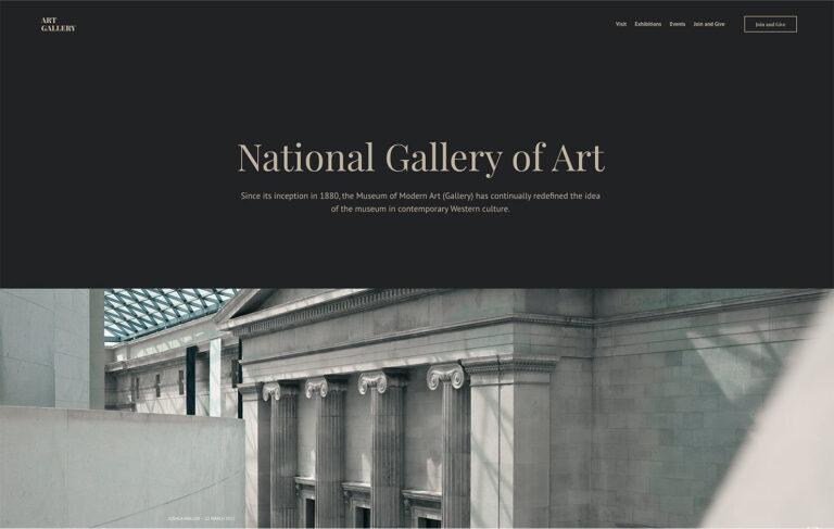 Art Gallery Museum HTML Static Theme