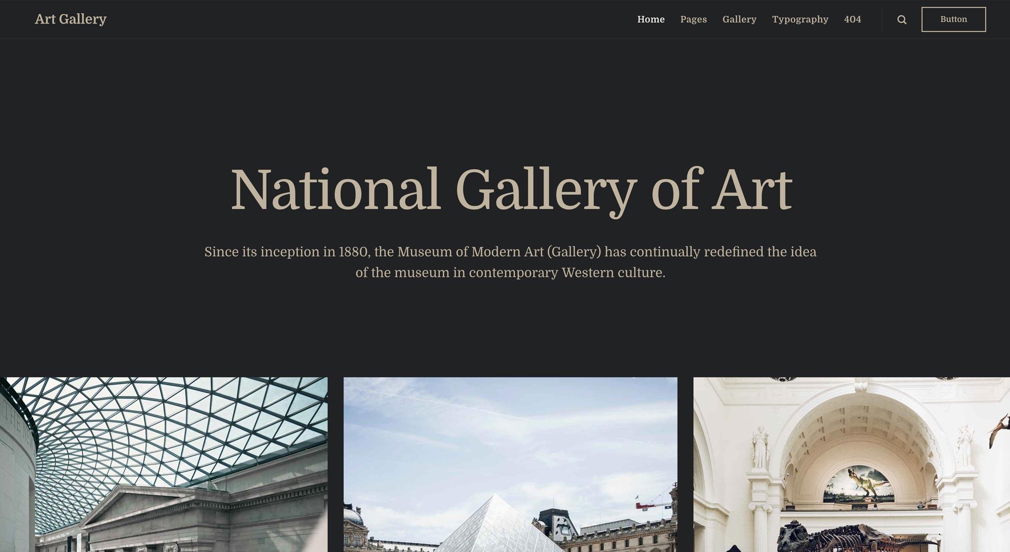 Art Gallery multicolumn slider