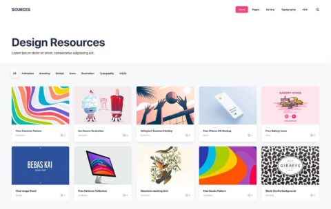 Sources Static Theme