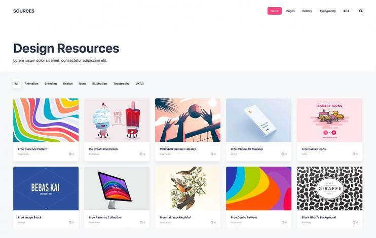 Design resources HTML Static Publii Theme