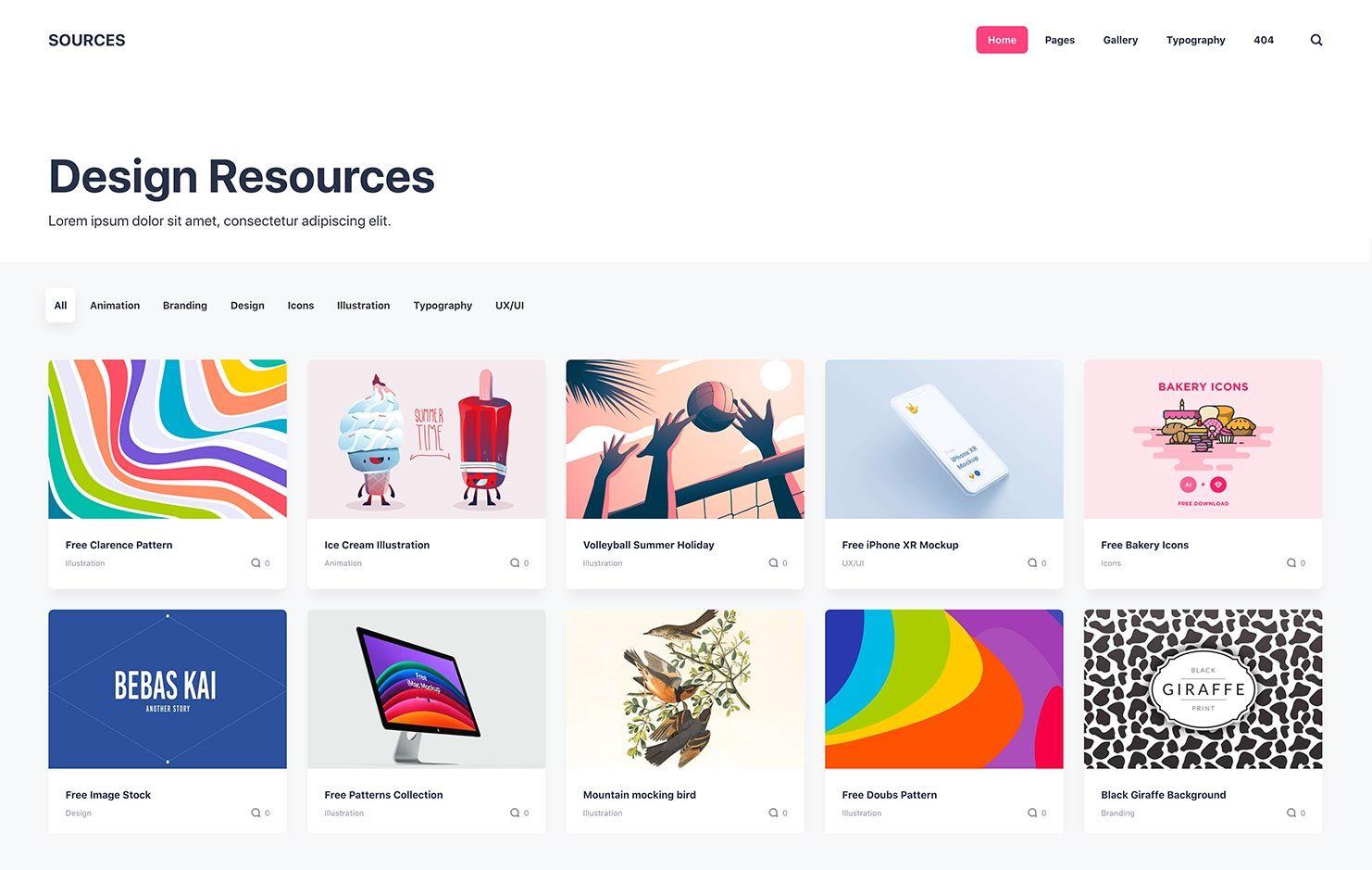 Design resources HTML Static Publii Theme