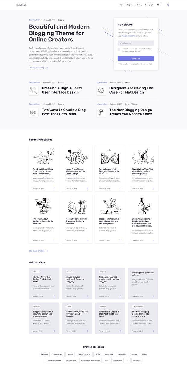 Blue-gray Website Color Scheme