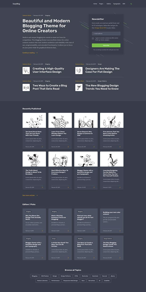 Graphite-green Website Color Scheme