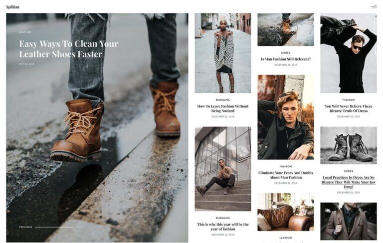 Splitian Fashion Static Theme