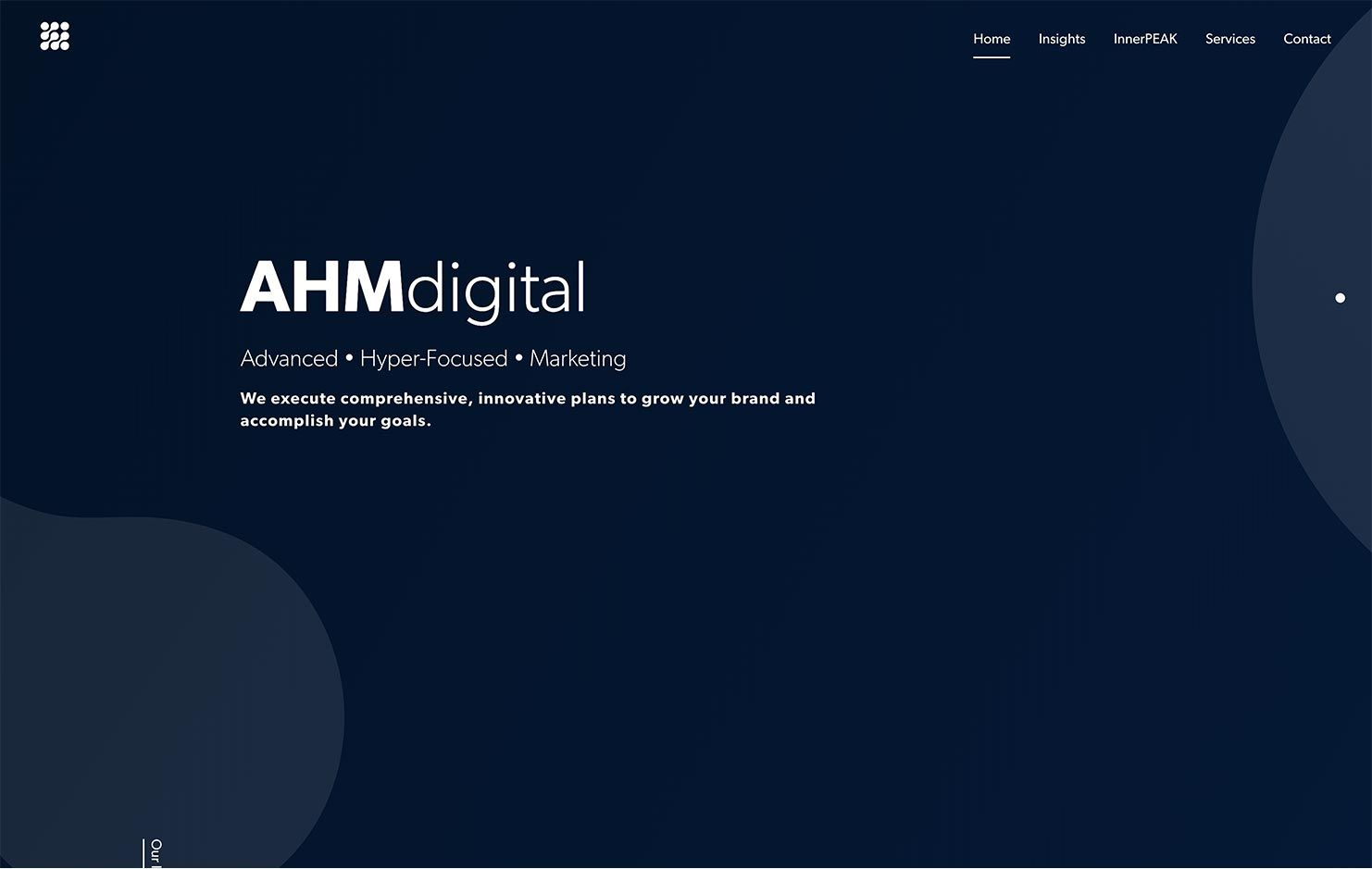 AHMdigital website